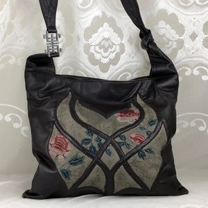 Vivienne Tam Brown Leather Hobo Lace